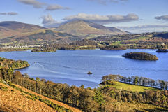 Northern Derwent Water and Keswick Royalty Free Stock Image