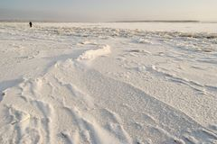 The Northern Dvina river is covered with ice Royalty Free Stock Images
