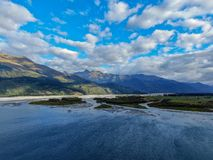 Northern end of Wanaka lake royalty free stock photo