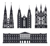 Northern Europe. European buildings on white background. Vector Illustration. illustration EPS Stock Photos