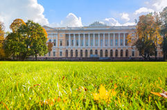 Northern facade of Mikhailovsky palace, building of the State Russian museum in St Petersburg, Russia Royalty Free Stock Photo
