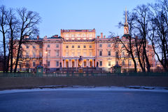 Northern facade of St. Micheal's castle in St. Petersburg, Russia Royalty Free Stock Photography