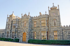 Northern facade of the Vorontsov Palace. Architectural landmark - Northern facade of the Vorontsov Palace in Alupka, Yalta, Crimea stock photography