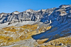 Northern flank of Troumouse circus in French Pyrenees Stock Images