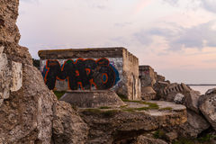 Northern forts after sunset Stock Photography