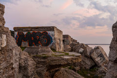 Northern forts after sunset Royalty Free Stock Photos