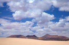 Northern Fuerteventura, Corralejo sand dunes Royalty Free Stock Image
