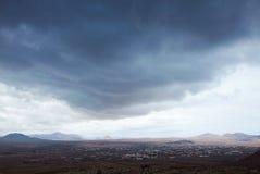 Northern Fuerteventura, overcast day royalty free stock image