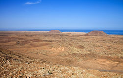 Northern Fuerteventura, view from  Bayuyo Stock Image