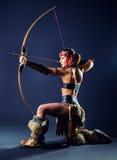 Northern girl warrior Stock Photos