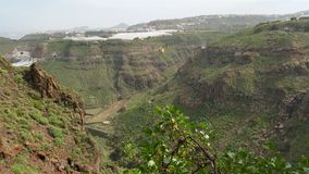 Northern of Gran canaria. That's the view from Cenobio Valeron Stock Photo