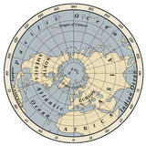 Northern Hemisphere. Detailed illustration  on white Stock Photo