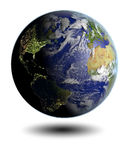 Northern Hemisphere from space Royalty Free Stock Images