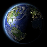 Northern Hemisphere from space Stock Image
