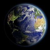 Northern Hemisphere from space Stock Images