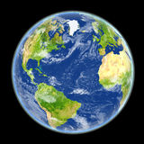 Northern Hemisphere from space Stock Photo
