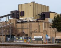 Northern Indiana Public Service Company. Michigan City, Indiana generating station stock photo