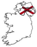 Northern Ireland Flag In Map Royalty Free Stock Photos