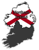 Northern Ireland Flag In Map Stock Image