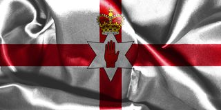 Northern Ireland Flag. Ulster Banner 3D illustration Stock Photos