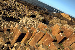 Northern Ireland giant's causeway Stock Image