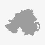 Northern Ireland map in gray on a white background Stock Photography