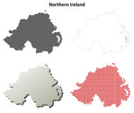 Northern Ireland outline map set Royalty Free Stock Image
