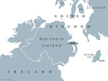 Northern Ireland political map Stock Photography
