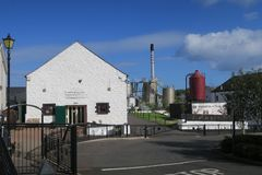 Distillery in the UK. Northern Ireland - typical British whiskey distillery impressions stock image