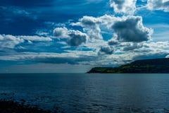 cloudy coastal skyline ireland royalty free stock photos