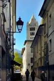 Northern Italian city street Royalty Free Stock Photos