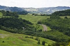 Northern Italy - Green hills Stock Image