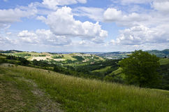 Northern Italy - Rural landscape. Summer season - view from the hill, near Sassuolo, Province of Modena, Region of Emilia-Romagna - Italy - Europe Royalty Free Stock Photo