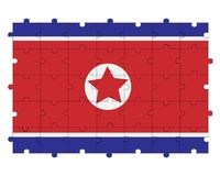 Northern Korea flag in form of puzzle stock photography