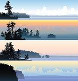 Northern Lake Banners Royalty Free Stock Photography
