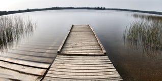 Northern Lake Canada Dock royalty free stock photo