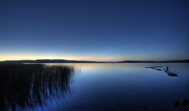 Northern Lake evening Stock Images