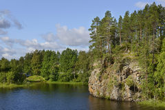Northern landscape in Oulanka Stock Image