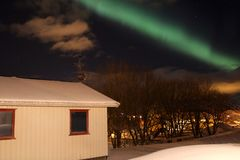Northern Light  above Gravdal Stock Images