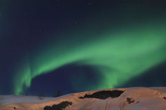 Green Northern Light waving Royalty Free Stock Photos