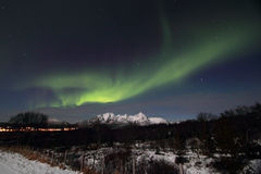 Northern Light above Leknes Stock Image