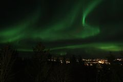 Northern Light  above Leknes in   Lofoten Stock Photos