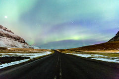 Northern Light Aurora borealis Iceland Stock Image