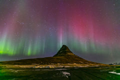 Northern Light Aurora Iceland Royalty Free Stock Image