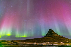 Northern Light Aurora Iceland Stock Photo