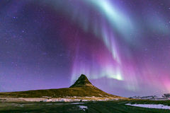 Northern Light Aurora Iceland. The Northern Light Aurora borealis at Kirkjufell Iceland Stock Image