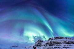 The Northern Light Aurora Iceland royalty free stock photo