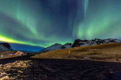 Northern Light Aurora Iceland Royalty Free Stock Photos