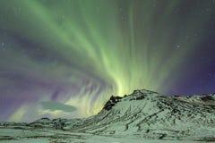 Northern Light Aurora Iceland Royalty Free Stock Image