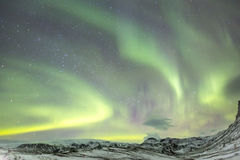 Northern Light Aurora Iceland Royalty Free Stock Photography